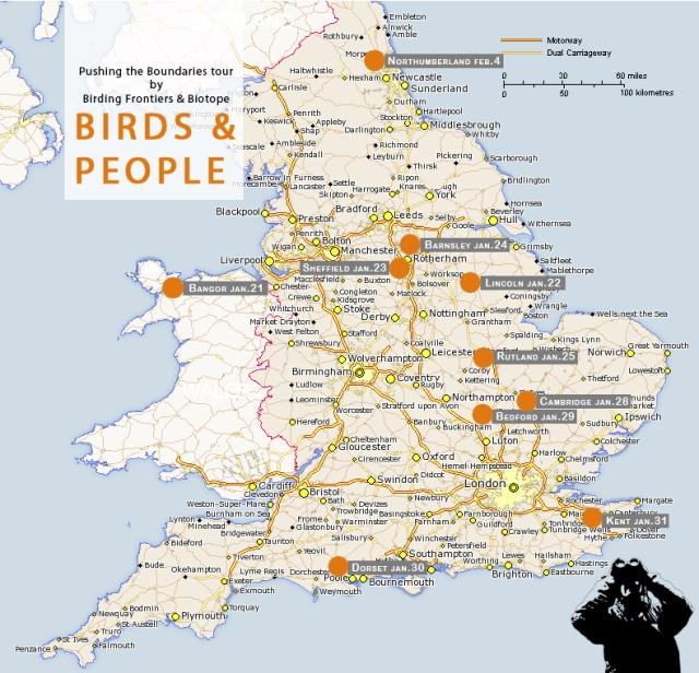 Pushing the boundaries tour map