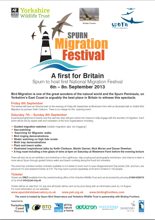 Spurn Migration Festival two